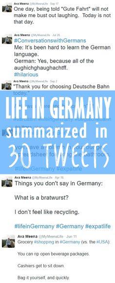 Summarizing Life in Germany in 30 Tweets.