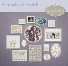 Augusta Artwork at Saudade Sims • Sims 4 Updates