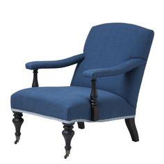 Blue Lounge Chair   Eichholtz Trident   OROA - Luxury Furniture