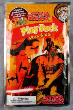 Star Wars Play Pack Grab & Go - Halloween 2013 - Crayons, Stickers and Coloring Book - Most Wanted Christmas Toys Halloween Toys, Halloween 2013, Christmas Toys, Shopkins, Cool Toys, Coloring Books, Party Favors, Star Wars, Stickers