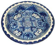 Blue Mexican Talavera Platter