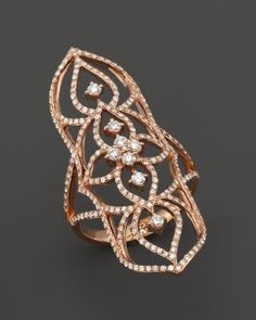 Diamond Filigree Statement Ring in 14K Rose Gold, 1.0 ct. t.w. | Bloomingdale's