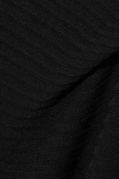 Marques' Almeida - Asymmetric Ribbed Open-knit Dress - Black -