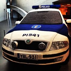 Knit One, Purl One. Three years to knit one police car. by verdant flaneur, via Flickr