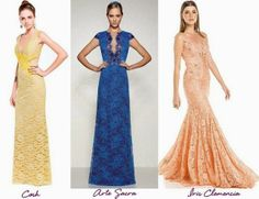 Madrinhas de casamento: Vestidos de festa de renda