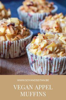 Vegan Snacks, Vegan Desserts, Appel Muffins, Vegan Christmas, Vegan Cake, Foodies, Nom Nom, Veggies, Baking