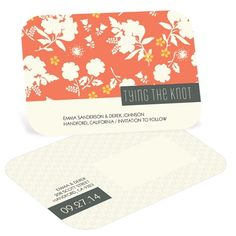 Vintage Save the Date Postcard - Blossoming Love