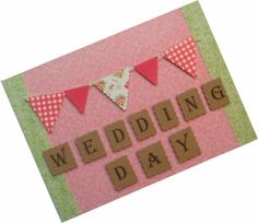 Handmade Wedding Day Card