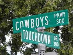 The corner of Cowboys and Touchdown!!!!