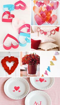 Easy handmade Valentines Decor. Fun Crafts for you and your family. www.TalkCraftyToMe.com This web is also full of crafting things <3