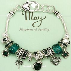 47b6217c6 ... netherlands emerald may birthstone charm bracelet murano beads pandora  4173b a52f3 ...