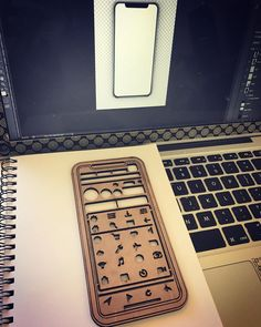 Wooden iPhone stencil prototype. Android version in next post.