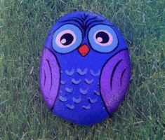 Best diy painted rocks with inspirational word and picture 02