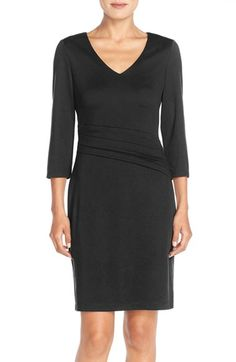 Marc New York Pleat Ponte Sheath Dress available at #Nordstrom