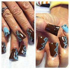 Acrylic nails by Thelma @ Thelma's VIP Nail Salon & Spa