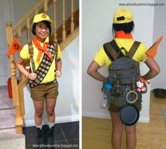 Russell from Up | 31 Disney Costume Tutorials You Have To Try This Halloween. In case we have a Disney or cartoon day next year...