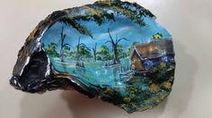 Hey, I found this really awesome Etsy listing at https://www.etsy.com/listing/223838381/oyster-shell-bayou-scene-with-cabin