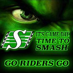 Game Day ! Go Rider, Saskatchewan Roughriders, Pride, Motivational, Football, God, Signs, Green, Sports