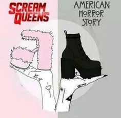 Scream Queens/American Horror Story more American story all the way Ahs, Series Movies, Movies And Tv Shows, Tv Series, Film Movie, Two Types Of Girls, American Horror Story 3, Coven, Pretty Little Liars