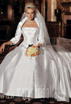 wedding dress with bolero jacket