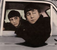 """lennobsession: """"saidthebeatles: """" Interviewer: Does all the adulation from teenage girls affect you? John: When I feel my head start to swell, I look at Ringo and know perfectly well we're not..."""