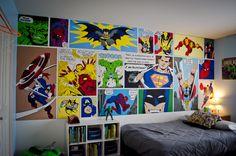 Super Hero Bedroom - The final product!