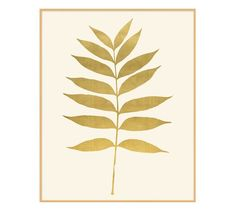 Gold Leaf Fern Framed Print | Pottery Barn