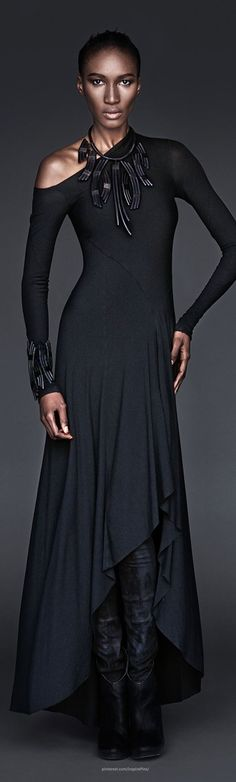 69. Hippolyta wedding gown- in a different color. Urban Zen Evolution Collection | The House of Beccaria~
