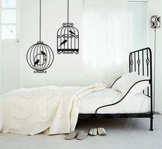 CAGES Wall Stickers Murals, Wall Murals, Wall Drawing, Bird Cage, Bird Houses, Kids Room, Canvas Prints, City Life, Bedrooms
