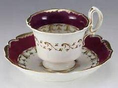 Šálek na čaj * fialovo bílý porcelán, jemně zdobený ♥