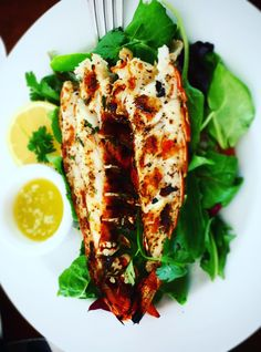 Grilled lobster dinner special at Kitchen 218, Beach House, Turks & Caicos