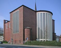 Church St Engelbert (1934-37, rebuilt 1953-55) in Essen, Germany, by Dominikus Böhm