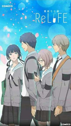 Relife - if you haven't watched it yet I suggest you to watch it now re lifeeee omfg Relife Anime, Kawaii Anime, Anime Art, Koi, Otaku, Slice Of Life Anime, Charlotte Anime, A Silent Voice, Natsume Yuujinchou