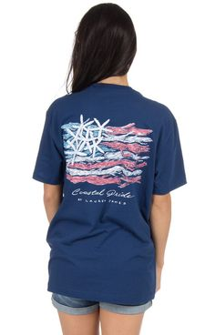 Estate Blue - Coastal Pride - Short Sleeve Back