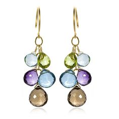 Briolette Clusters Earring Idea. love the colors