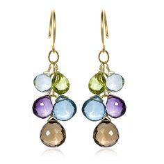 Briolette Clusters Earrings