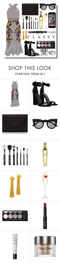 """""""🖤"""" by burcaak ❤ liked on Polyvore featuring Saloni, Kendall + Kylie, Valextra, Retrò, Sigma, Vanessa Mooney, LSA International, Witchery, NARS Cosmetics and Space NK"""