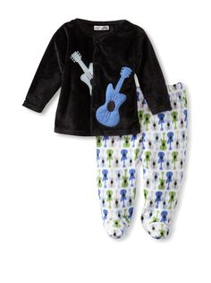 Rumble Tumble Baby Plush Jacket Set (Black) This rockin set features an ultra soft plush snap front jacket and printed footie pants with an elasticized waist Jacket #FootieKids