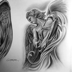 Pin by john mayfield on tattooed chicano tattoos, tattoo dra Tattoo Sleeve Designs, Tattoo Designs Men, Sleeve Tattoos, Tattoo Sketches, Tattoo Drawings, Tribal Dragon, Christ Tattoo, Angels Tattoo, Chicano Tattoos