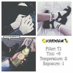 T1 Tint +6 Temperature -2 Exposure -1