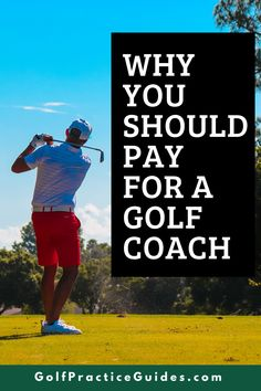 In this article we break down the importance of working with a golf coach or instructor who can help you improve your swing and short game. A golf coach charges hourly for lessons but most have packages to buy more lessons for cheaper. Click to read our tips on hiring a golf coach #golf #golfcoach