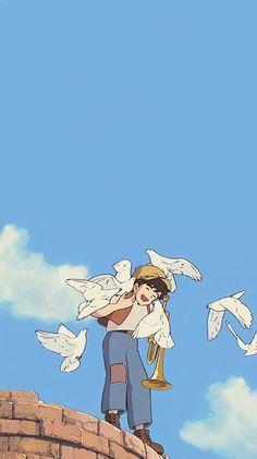 Studio ghibli,castle in the sky,hayao miyazaki - İl cartone animato Studio Ghibli Art, Studio Ghibli Movies, Studio Ghibli Characters, Castle In The Sky, Hayao Miyazaki, Animes Wallpapers, Cute Wallpapers, Personajes Studio Ghibli, Studio Ghibli Background