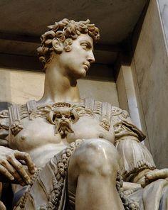 Giuliano de Medici (1479-1516) Statue in the Medici-Chapel, created by Michelangelo