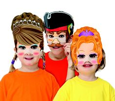 Velcro Kids Princess & Pirate Masks