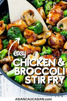 Chicken and Broccoli Stir Fry is a Chinese take-out classic for a reason – it's totally delicious! Skip the take-out and make this easy, healthy stir fry in your own kitchen! Looking for an easy, throw-together dish for your busy work week? Here's a healthy, 30-minute Chicken and Broccoli Stir Fry recipe that won't take up all of your precious time during this frantic week of cooking! Breakfast Lunch Dinner, Breakfast Recipes, Dinner Recipes, Chicken Broccoli Stir Fry, Chicken And Vegetables, Asian Recipes, Keto Recipes, Cooking Recipes, Stir Fry Dishes