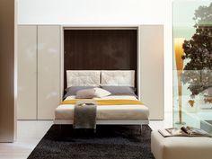 Módulo de arrumação de parede com cama dobrável LGM Coleção LGM by CLEI | design Pierluigi Colombo