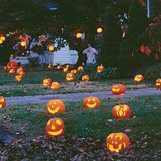 farolillos con calabazas para halloween