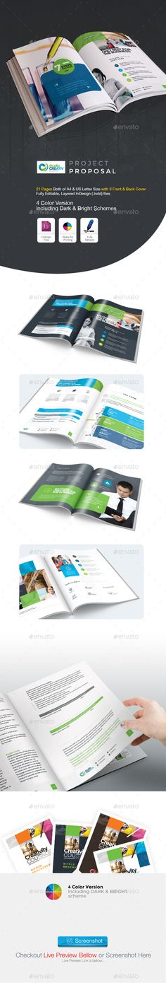 Project Proposal Template Bundle w  Invoice \ Contract Proposal - professional proposal templates