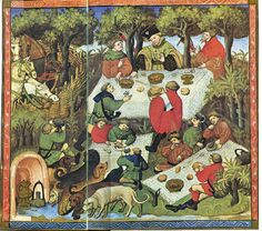 """""""Book of Hunting"""" in the second half of the 14th century however the manuscript this illustration is taken from is from the early 15th century."""