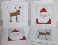 www.folksy.com/shops/WaldiMint   Pack of 4 Christmas card 5x5  £5.00
